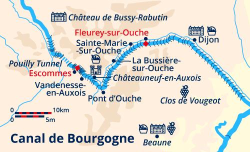 Burgundy Cruise map