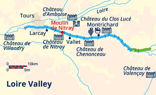 Loire Cruise map